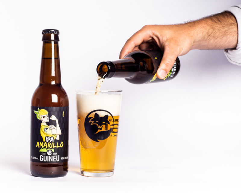 Cervesa artesana Guineu IPA Amarillo